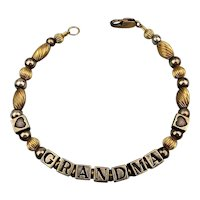 Sterling Silver Gold-Filled Bracelet - GRANDMA...It's For You