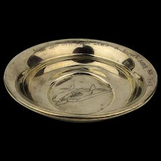 Authentic 1947 Roswell UFO Crash Hoax Engraved Pewter Dish