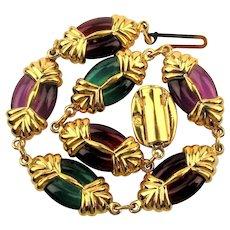 Swarovski Crystal Jewel Link Bracelet Swan Logo