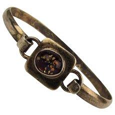 Mexican 925 Sterling Silver Bracelet w/ Opalescent Stone
