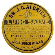 Old Orig. c1910 LUNG SALVE Tin Box Cure-All Quack Medicine.