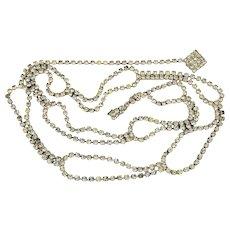 Vintage Rhinestone Belt or Necklace Faux Diamond Glam
