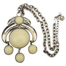 1960s KRAMER Super Cool Bold Pendant Necklace