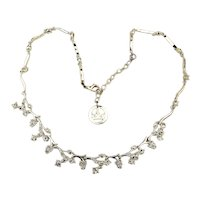 Vintage Trifari Clear Crystal Rhinestone Necklace