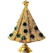 Funny Little Vintage Christmas Tree Pin - Tough Decision