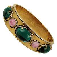 Big Hunk of Jeweled Designer Clamper Bracelet