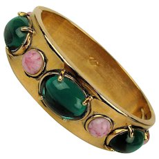Big Hunk of Jeweled Designer Clamper Bracelet