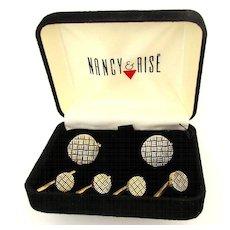 Vintage Nancy & Rise Sterling Silver Cufflink Set in Box
