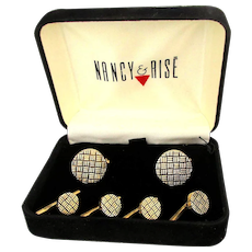 Vintage Nancy & Rise Sterling Silver Cufflink Set in Box