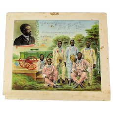 Original 1884 Jackson Wagon Negro Band Chromolith Adv. Poster