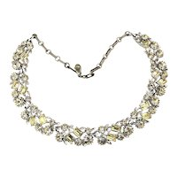 Vintage LISNER Clear Color Crystal Rhinestone Necklace