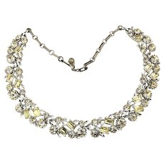 Vintage LISNER Clear Color Crystal Rhinestone Necklace