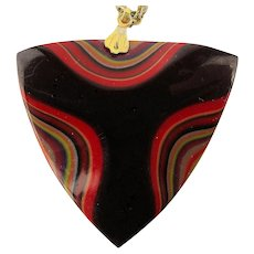 Lucite Layered Multi-Color Pendant Necklace