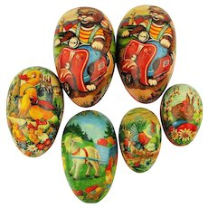 Set 3 Western Germany Candy Container Egg Boxes Rabbits Ducks Chicks Lamb Gnome