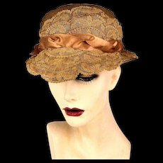 Pretty Old Lacy 1920s Hat
