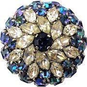 Vintage Austrian Crystal Rhinestone Bon-Bon Brooch Pin