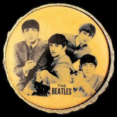 Rare 1964 Beatles Photo Pin Brooch Jewelry