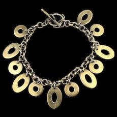 Sterling Silver O-O-O Charm Bracelet Oh So Fun Multi ~O~ Dangles