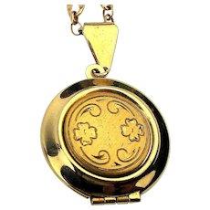 Vintage Gold-Filled Locket on Super Nice G.F. Chain Necklace
