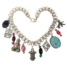 Great Chunky Old Necklace Tour of Asian Charms Dangles