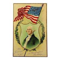 c1910 Victorian American FLAG Postcards - Memorial Day & George Washington