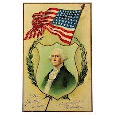 c1910 Victorian American FLAG Postcards - Memorial Day & George Washington