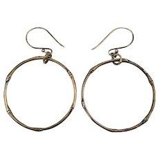 Vintage John Hardy Sterling Silver Bamboo Hoop Earrings