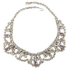 Vintage WEISS Festoon Rhinestone Necklace
