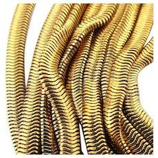Vintage Designer Debra Fine Yohai Multi Snake Chain Necklace