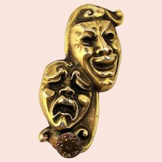 Old Comedy Tragedy Mask Money Clip - So Happy - So Sad - So Detailed