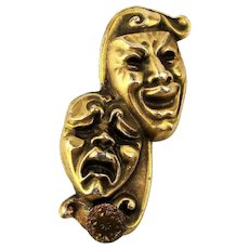 Old Comedy Tragedy Mask Money Clip - So Happy - So Sad - So Detailed