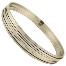 Vintage Taxco 7 Slim Sterling Bands Make One Great Bangle Bracelet