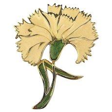 Big Happy White Daffodils Enamel Pin Brooch Flowers