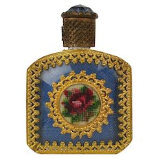 Old Miniature Austrian Perfume Bottle Decorated to the Max