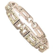 Art Deco Engel Brothers Rhinestone Bracelet 1930s