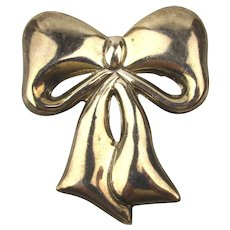 Taxco Sterling Silver BOW Pin Brooch