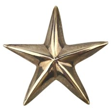 Taxco Sterling Silver Big Bright Star Pin Brooch Pendant