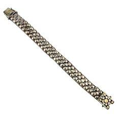 Solid Sterling Silver Woven Sleek BUMPS Bracelet