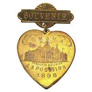 1898 OMAHA Exposition Souvenir Pin - Trans-Mississippi International Expo