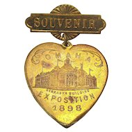 1898 OMAHA Exposition Souvenir Pin - Trans-Mississippi International Expo