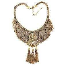 Lavish Bib Necklace of Infinity Knots and Infinite Chains