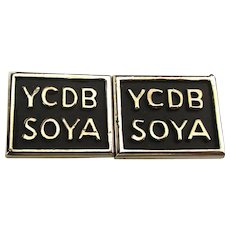 Vintage Cufflinks w/ Important Message YCDBSOYA