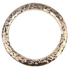 Vintage Hammered Sterling Silver Bangle Bracelet