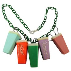 Necklace of Souvenir Viewers from Catskill N.Y. Hotels - Borscht Belt Glamor