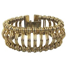 Kramer of New York Goldtone Picket Fence Bracelet