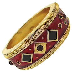 Vintage Berebi Limited Edition Couture Enamel Bracelet w/ Jewels