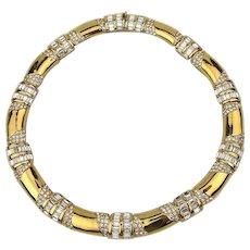 Vintage CINER Crystal Rhinestone Necklace - A Signed Stunner