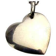 Pomellato Dodo Heavy Sterling Silver Heart Pendant Necklace