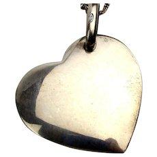 Pomellato Dodo Heavy Sterling Silver Heart Pendant Necklace
