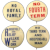 Set of 4 Original 1940 Political Campaign Pins Willkie vs. FDR